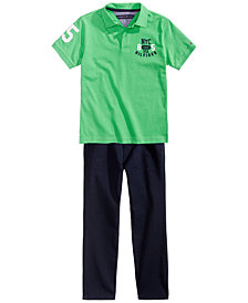 Tommy Hilfiger Fitch Polo & Trent Pants Separates, Big Boys