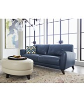 Myia 82 Leather Sofa Created For Macy S