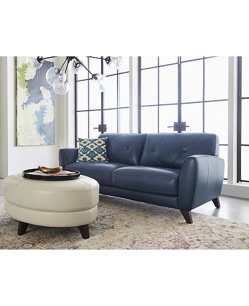 Swell Myia 82 Leather Sofa Created For Macys Onthecornerstone Fun Painted Chair Ideas Images Onthecornerstoneorg