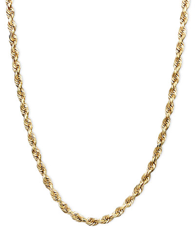 14k Gold Necklace, 22