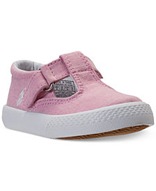 Polo Ralph Lauren Toddler Girls' Tabby T-Strap Casual Sneakers from Finish Line