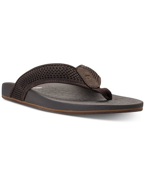 3caf620a0f4fac Skechers Men s Pelem Emiro Thong Sandals from Finish Line   Reviews ...