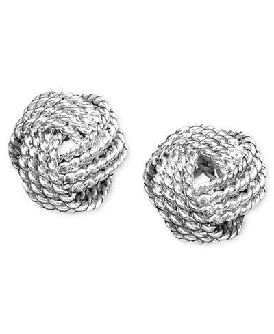 Giani Bernini Twist Knot Stud Earrings in Sterling Silver, Created for Macy's