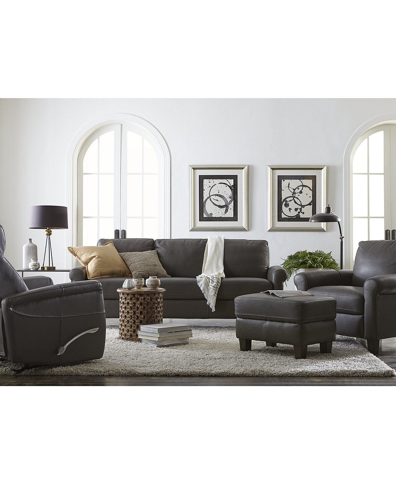 Romy leather sofa collection created for macys