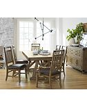 Metalworks Expandable Trestle Dining Furniture Collection