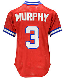 Mitchell & Ness Men's Dale Murphy Atlanta Braves Authentic Mesh Batting Practice V-Neck Jersey