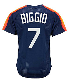 Mitchell & Ness Men's Craig Biggio Houston Astros Authentic Mesh Batting Practice V-Neck Jersey
