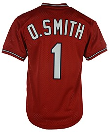 Men's Ozzie Smith St. Louis Cardinals Authentic Mesh Batting Practice V-Neck Jersey