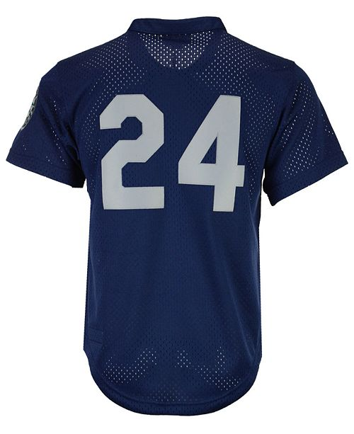 pretty nice 713f4 7a325 Men's Ken Griffey Jr. Seattle Mariners Authentic Mesh Batting Practice  V-Neck Jersey