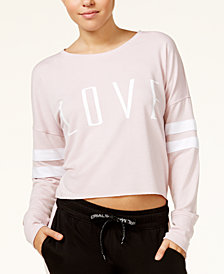 Material Girl Active Juniors' Love Graphic Sweatshirt, Created for Macy's