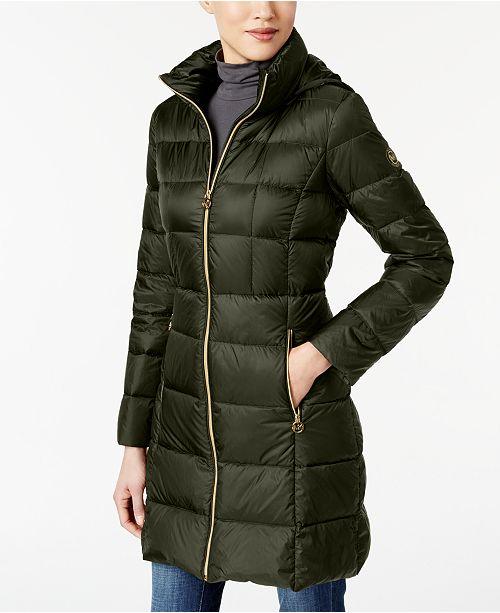Michael Kors Packable Down Puffer Coat Coats Women