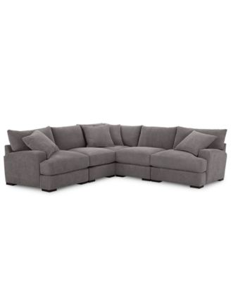 Rhyder 5 Pc. Fabric Sectional With Armless Chair, Created For Macyu0027s