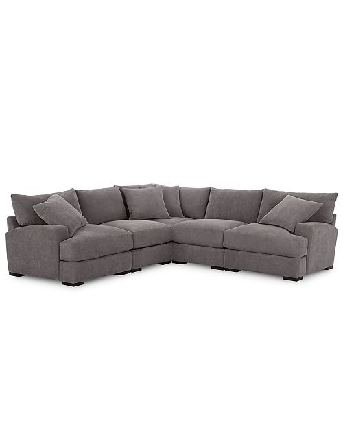 Marvelous Rhyder 5 Pc Fabric Sectional Sofa With Armless Chair Created For Macys Dailytribune Chair Design For Home Dailytribuneorg