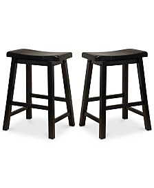 Chermin Stool (Set Of 2), Quick Ship