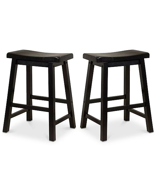 Noble House Chermin Stool (Set Of 2), Quick Ship