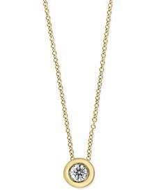 EFFY® Diamond Bezel Solitaire Pendant Necklace (1/5 ct. t.w.)