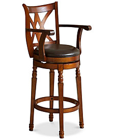 Dorsie Swivel Bar Stool, Quick Ship