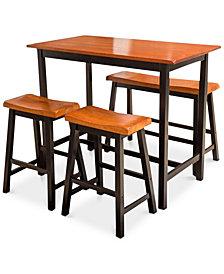 Chermin 4-Pc. Table Bench Set, Quick Ship