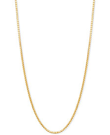 "Italian Gold 18"" Box Link Chain Necklace in 18k Gold"