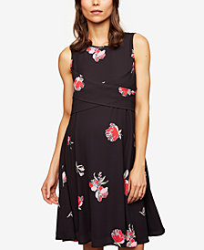 A Pea In The Pod Maternity Crossover Fit & Flare Dress