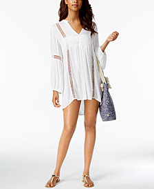 Raviya Eyelet-Trim Tunic Cover-Up