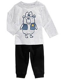 Sheriff-Print T-Shirt & Jogger Pants, Baby Boys (0-24 months), Created for Macy's