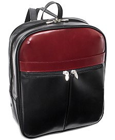 "McKlein Edison 14"" Leather Laptop Backpack"