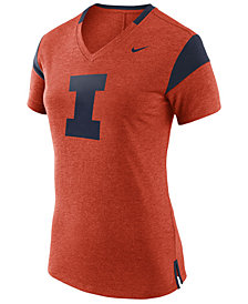 Nike Women's Illinois Fighting Illini Fan V Top T-Shirt