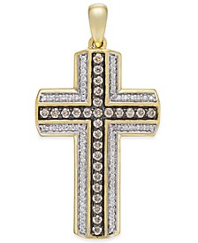 Men's Diamond Cross Pendant (3/4 ct. t.w.) in 10k Gold
