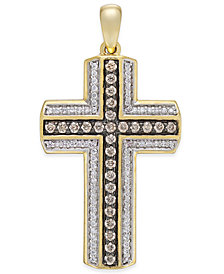 Diamond Cross Pendant (3/4 ct. t.w.) in 10k Gold