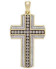 Diamond Cross Pendant (3/4 ct. t.w.) in 10k Gold