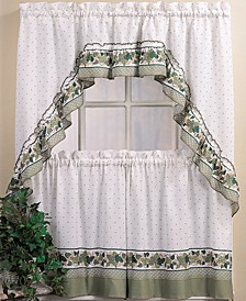 Cottage Ivy Window Tier & Swag Valance Sets