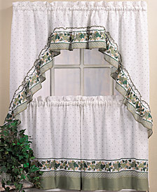 CHF Cottage Ivy Window Tier & Swag Valance Sets