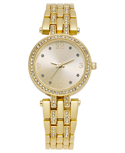 Charter Club Women's Gold-Tone Bracelet Watch 28mm, Created for Macy's