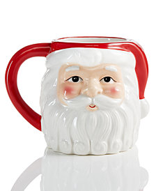 Martha Stewart Collection Santa Mug, Created for Macy's