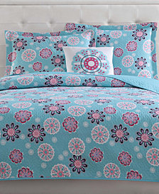 Laura Hart Kids Rosanna Reversible 4-Pc. Medallion Full Quilt Set