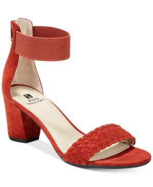 White Mountain Eryn Block-Heel Dress Sandals Women