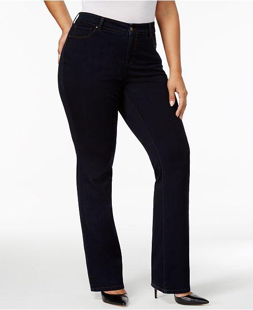 261ce809024 Style   Co Plus   Petite Plus Size Tummy-Control Bootcut Jeans ...