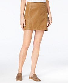Modern Femme Faux-Leather Mini Skirt