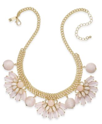Image of INC International Concepts Gold-Tone Stone & Thread Statement Necklace, Created for Macy's