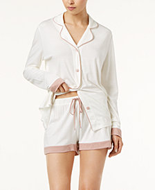Cosabella Bella Bridal Cotton Contrast-Trim Boxer Set AMOBD9644