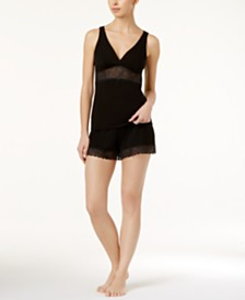 Cosabella Minoa Sheer Lace Camisole & Pajama Shorts, Online Only