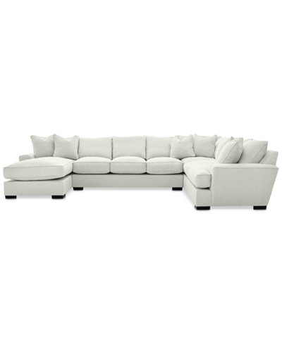 Ainsley 3-Pc. Sectional with Chaise & 6 Throw Pillows, Created for Macy's