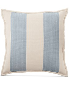 "Lauren Ralph Lauren Graydon Ticking Stripe 20"" Square Decorative Pillow"