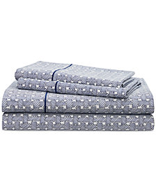 Lauren Ralph Lauren Spencer Cotton 4-Pc. Basketweave King Sheet Set