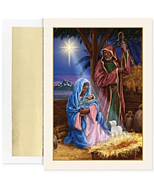Holy Family In Stable Set of 18 Boxed Holiday Greeting Cards With Envelopes