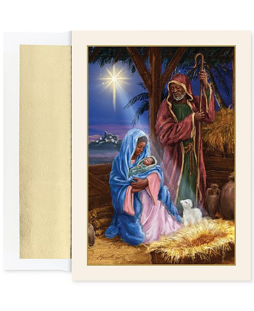 Masterpiece cards masterpiece holy family in stable set of 18 boxed main image m4hsunfo