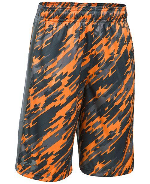 8075b51ec Under Armour Stunt Printed Shorts, Big Boys & Reviews - Shorts - Kids ...