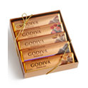 2 -Pk. Godiva 5 Chocolate Bar Gift Pack
