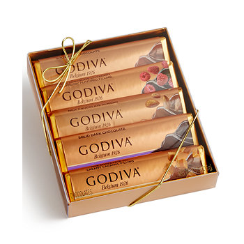 Godiva 5 Chocolate Bar Gift Pack